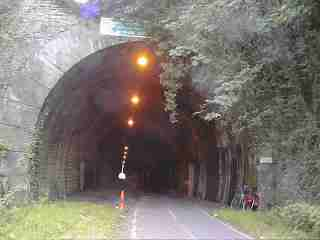 Picture of the railway tunnel on the Bristol - Bath Cycle Track.
